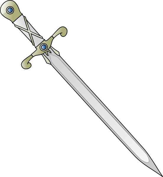 Longsword clip art at. Clipart gun sword