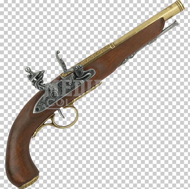 Revolver flintlock pistol firearm. Clipart gun sword