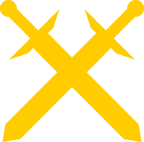 Gold crossed swords clip. Clipart gun sword