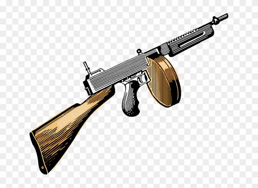 Machine gangster clip art. Clipart gun tommy gun