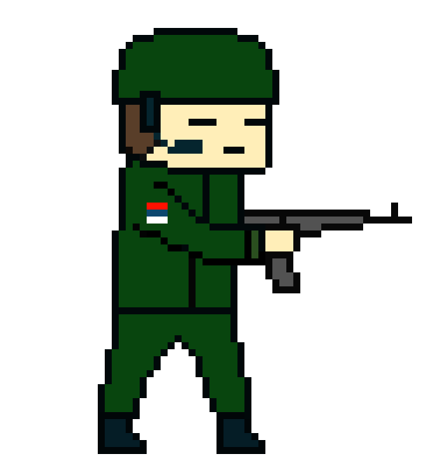 Clipart gun toy. Serbian soldier pixel art