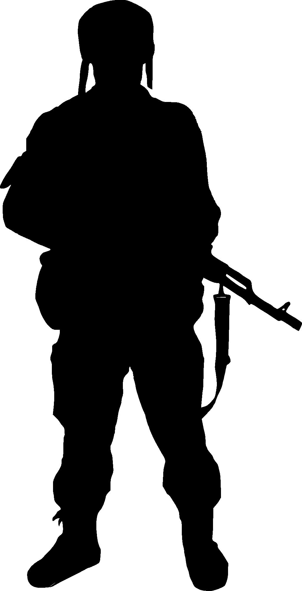 Clipart gun transparent background.  soldier silhouette png