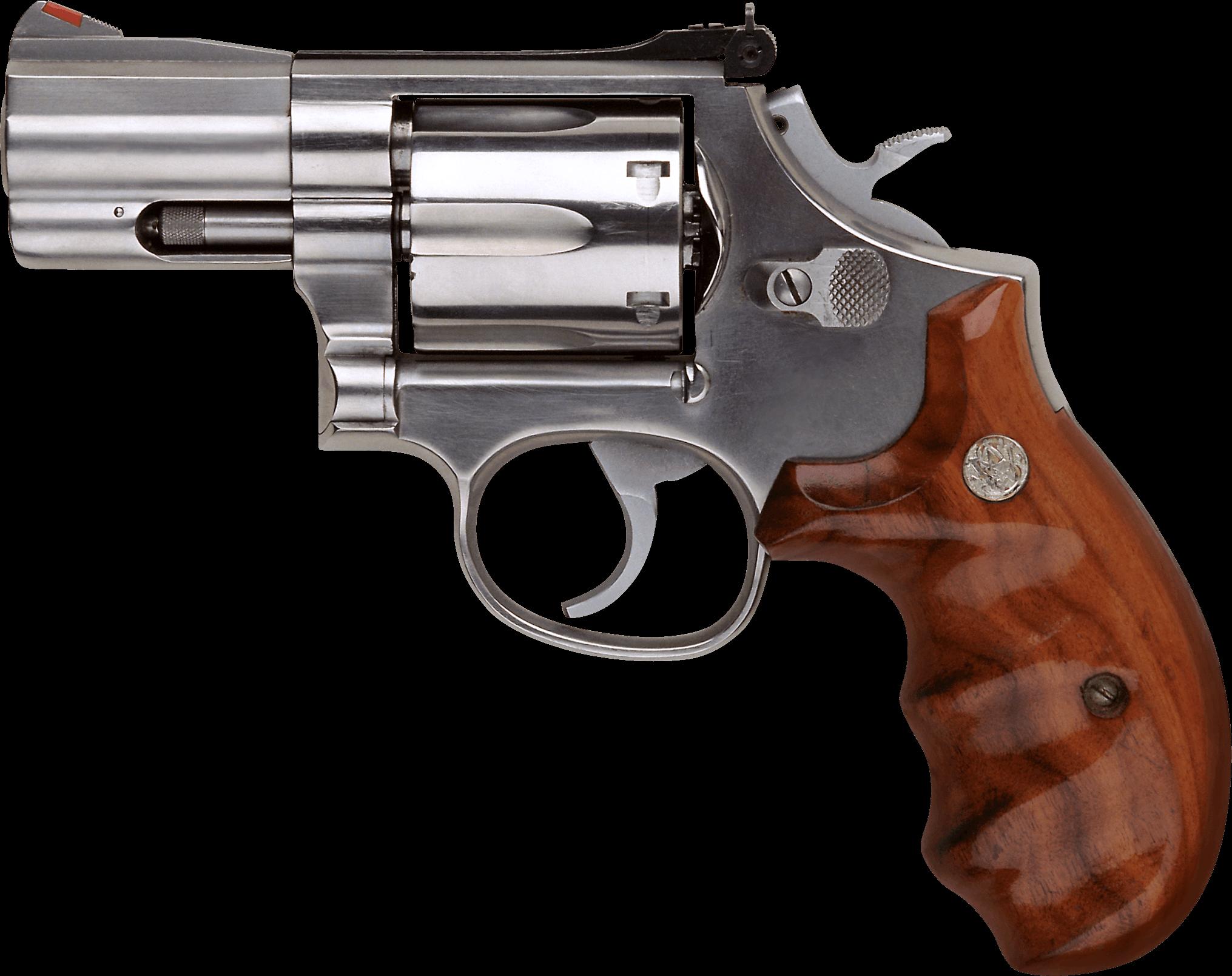 Small revolver handgun png. Clipart gun transparent background