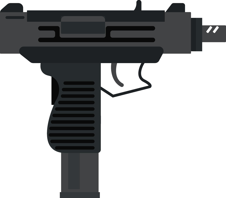 Weapon royalty free clip. Clipart gun uzi