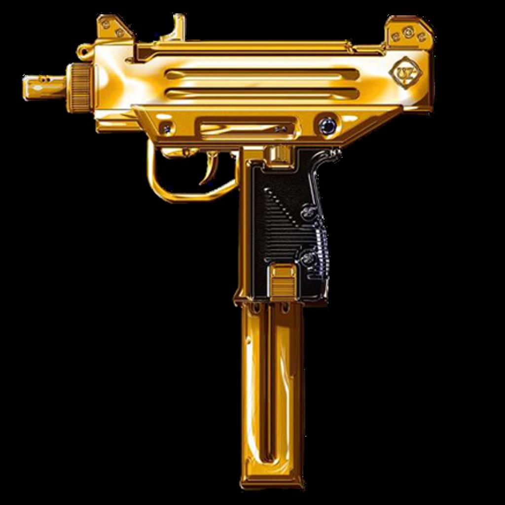 Clipart gun uzi. Gold uz trapmusic sticker