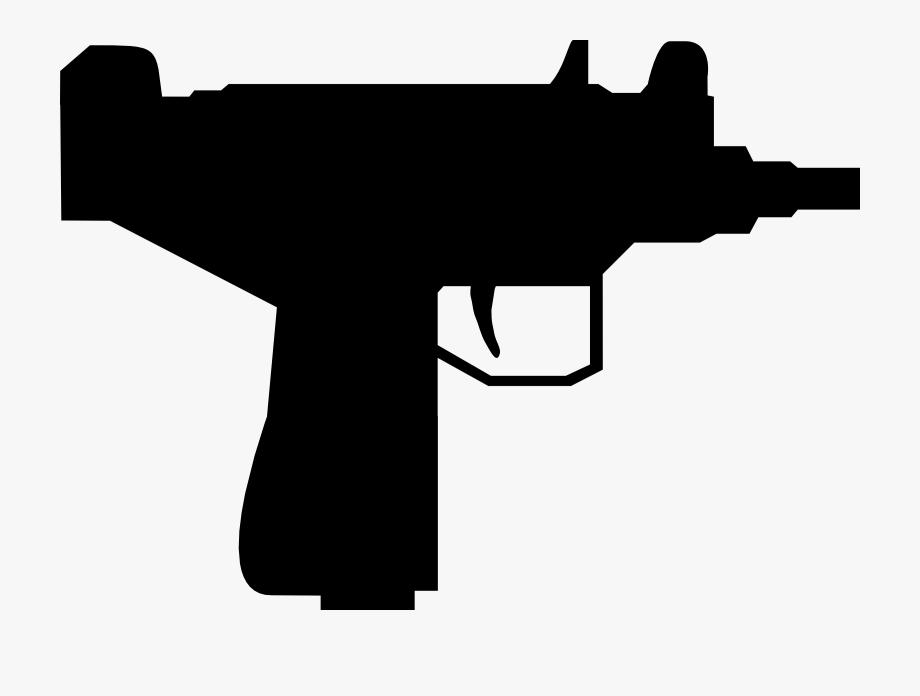 Assault rifle silhouette free. Clipart gun uzi
