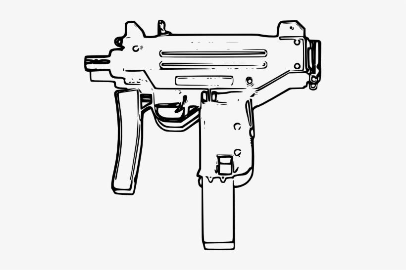 Clipart gun uzi. Graphic free shooting line