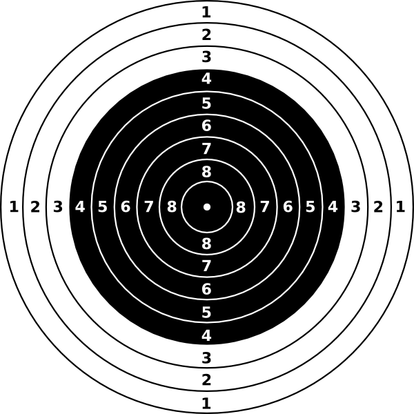 Rifle shooting targets printable. Clipart gun vector