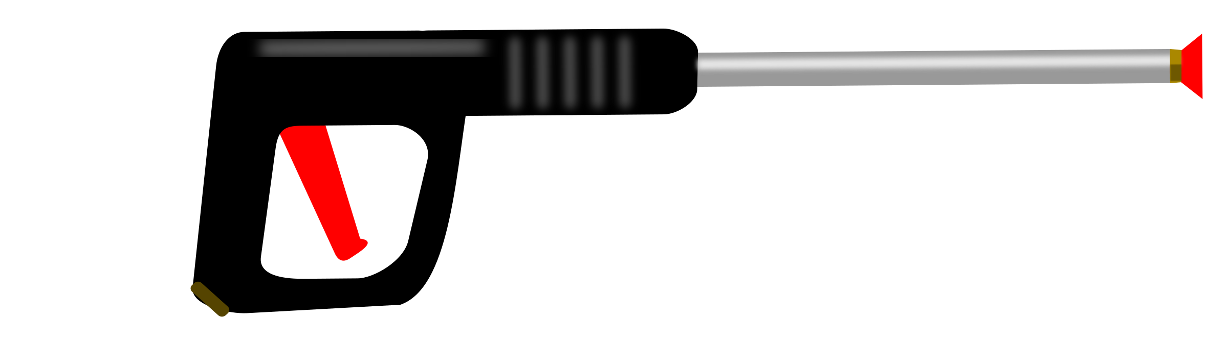 Clipart gun vector. Pressure washer wand big