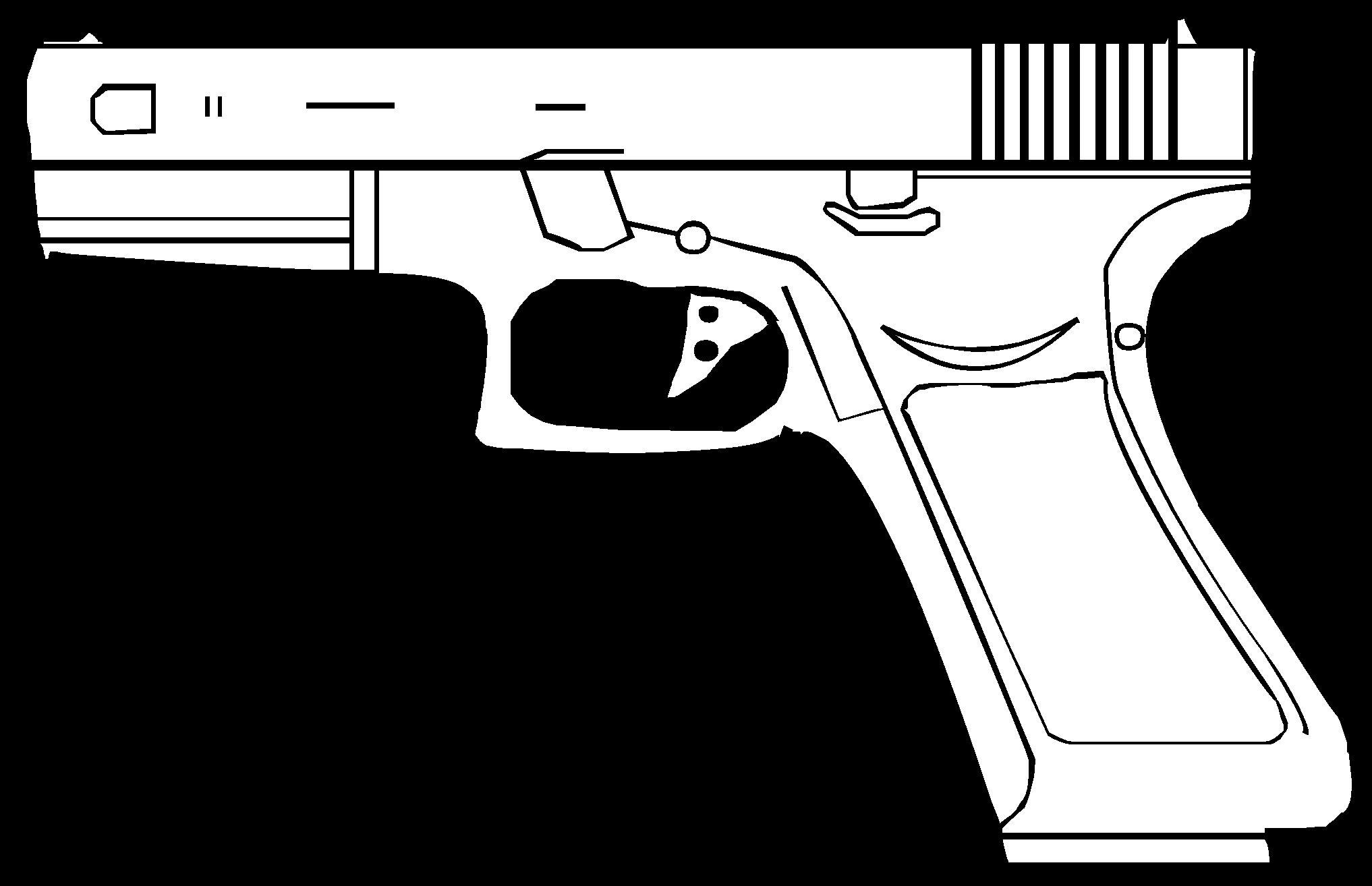 File glock svg wikimedia. Clipart gun vector