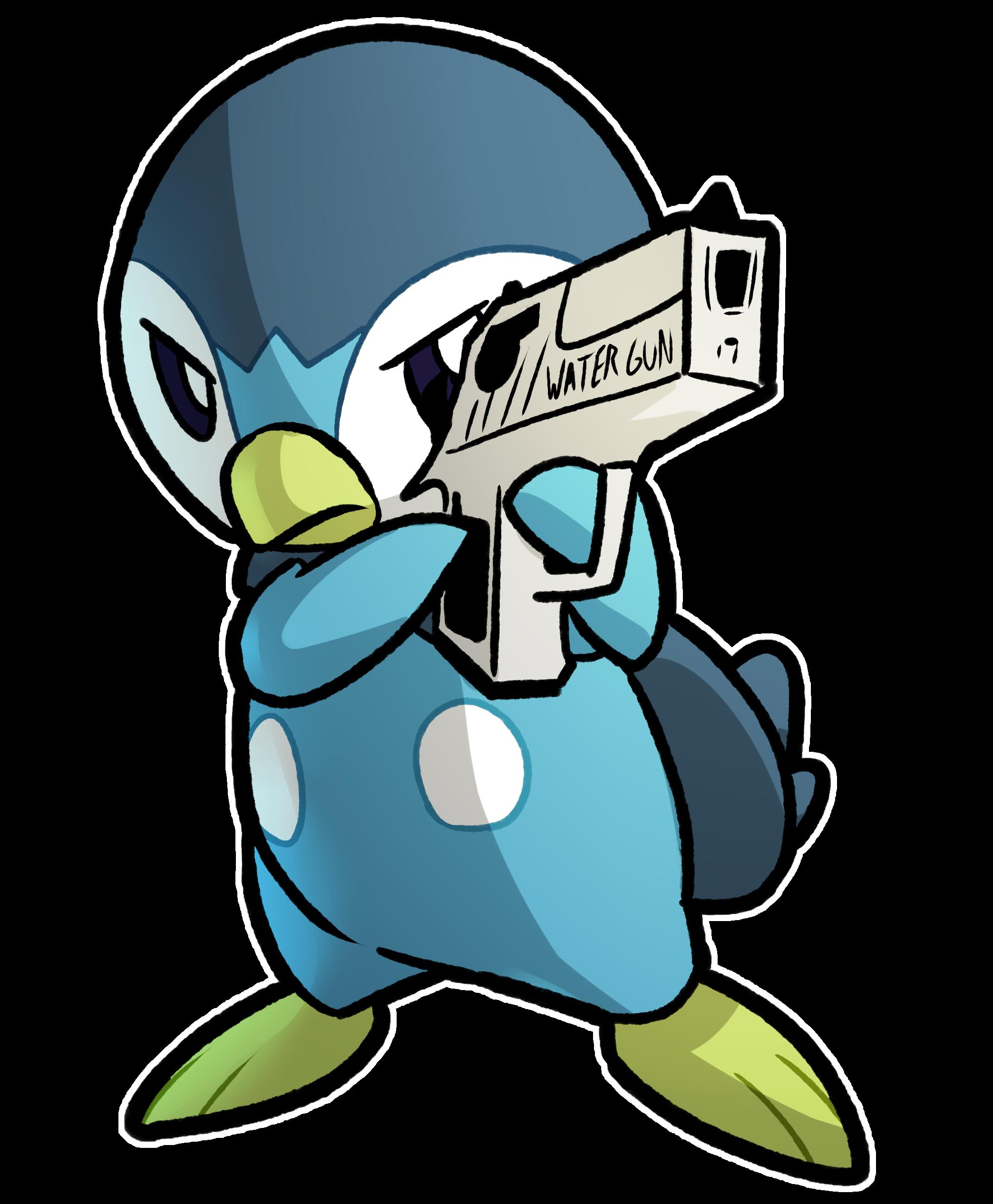 Using water gun if. Pokemon clipart piplup