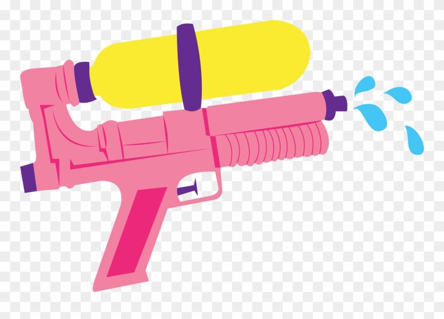 Guns clipart water gun. Line art png transparent