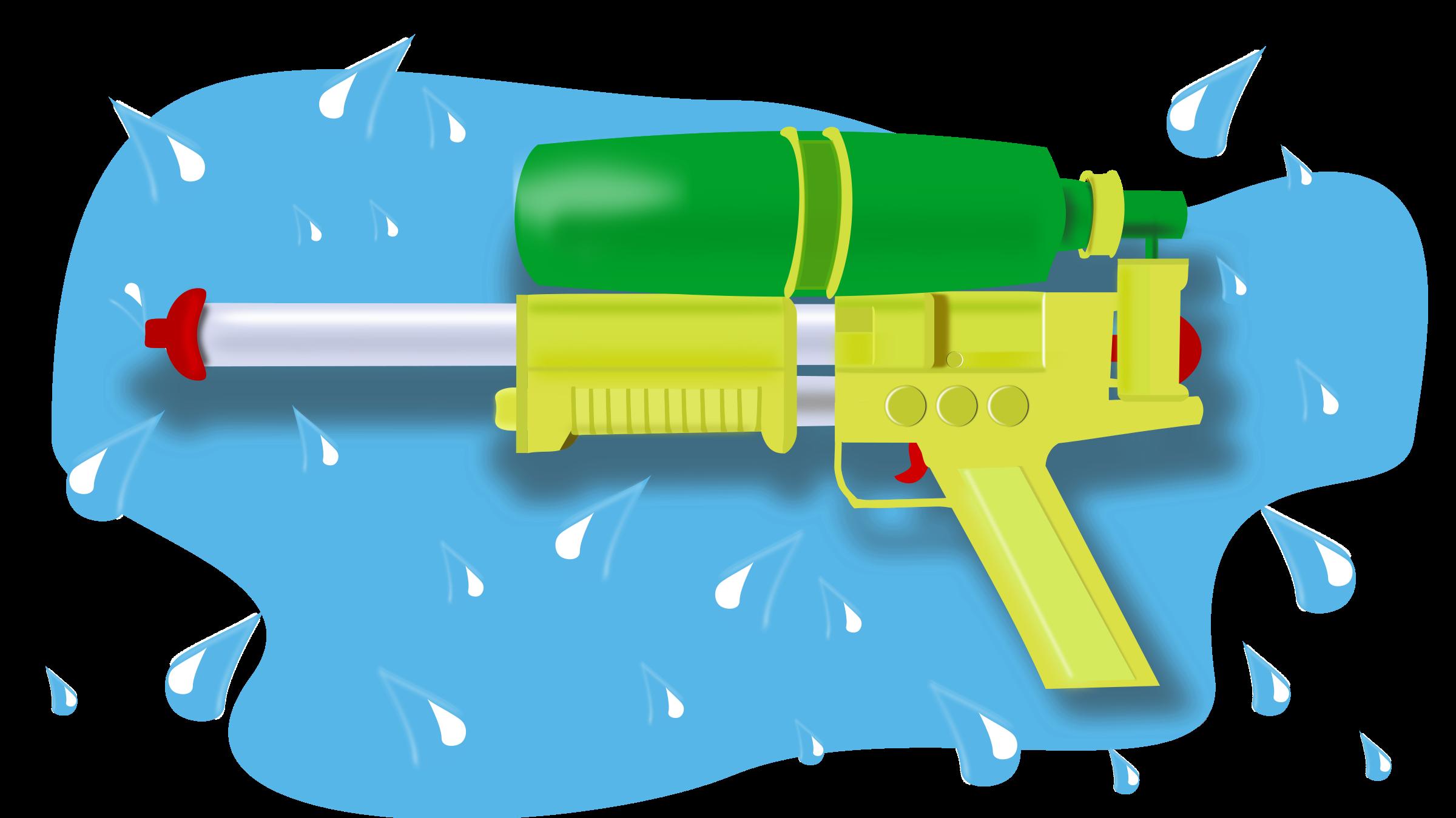 Splash gun big image. Clipart summer water