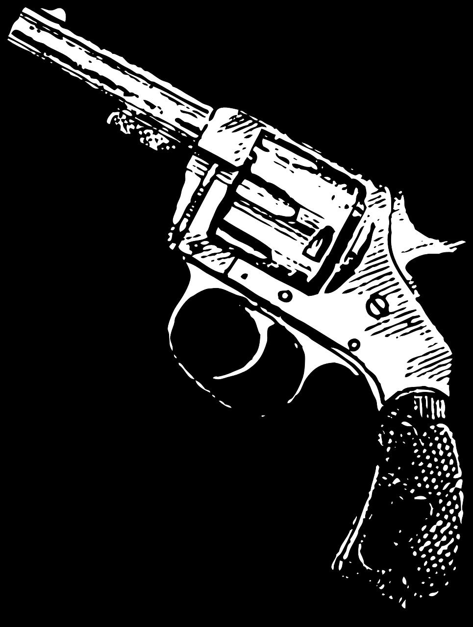 Western revolver drawing at. Cowboy clipart pistol