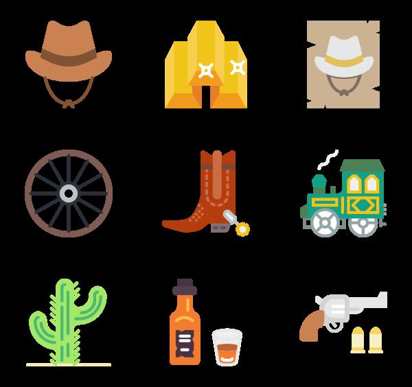 gun icon packs. Cowboy clipart wild west