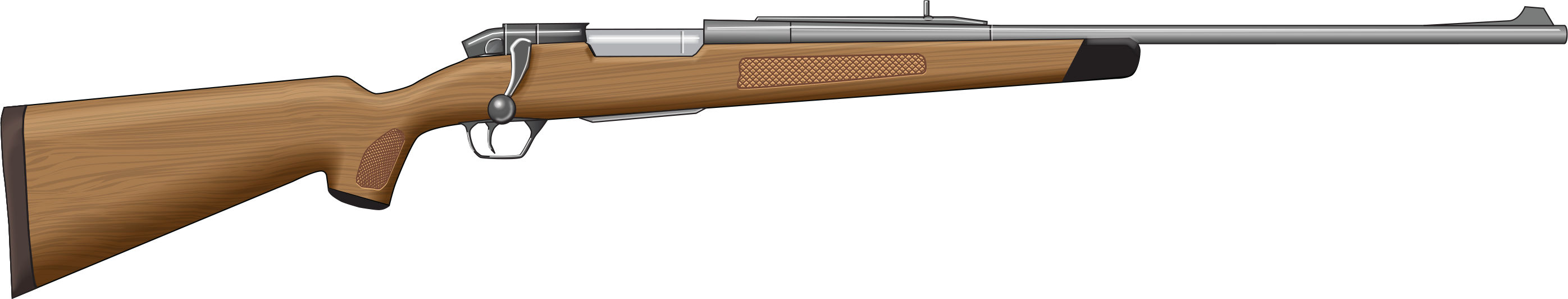 Clipart gun ww1 gun. Drawn rifle bolt action