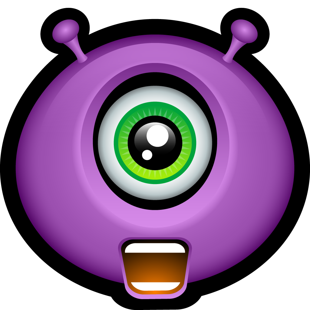 Monster mike smiley face. Clipart halloween alien