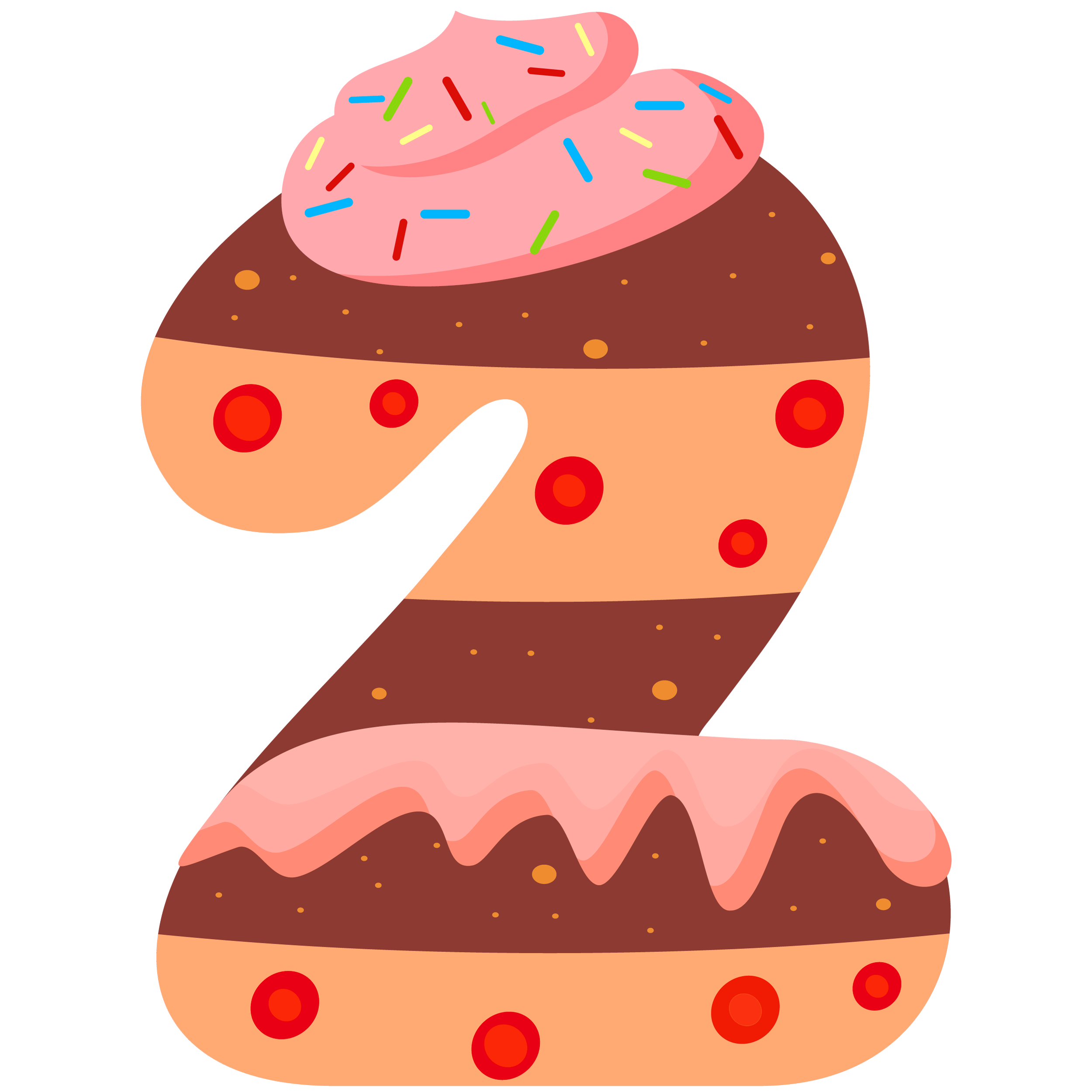 Clipart halloween baked goods. Sweet number two png
