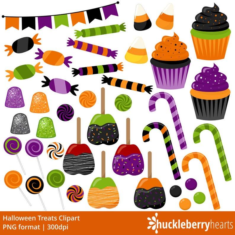 Candy clip art treats. Clipart halloween baked goods
