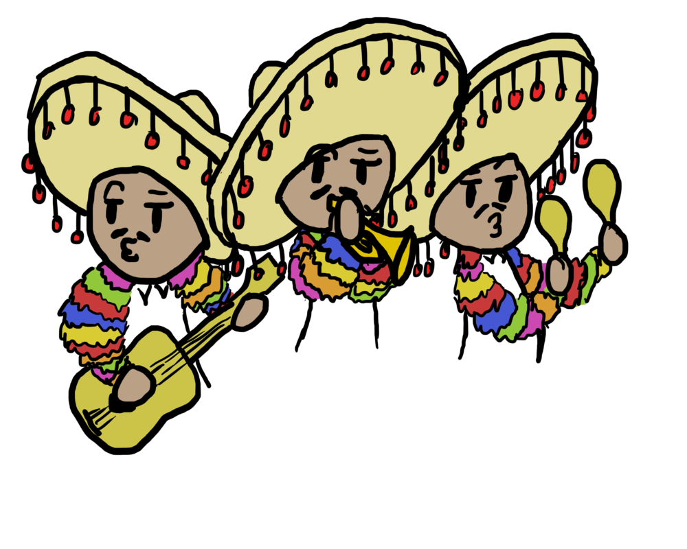 Clipart halloween band. Mariachi drawing at getdrawings