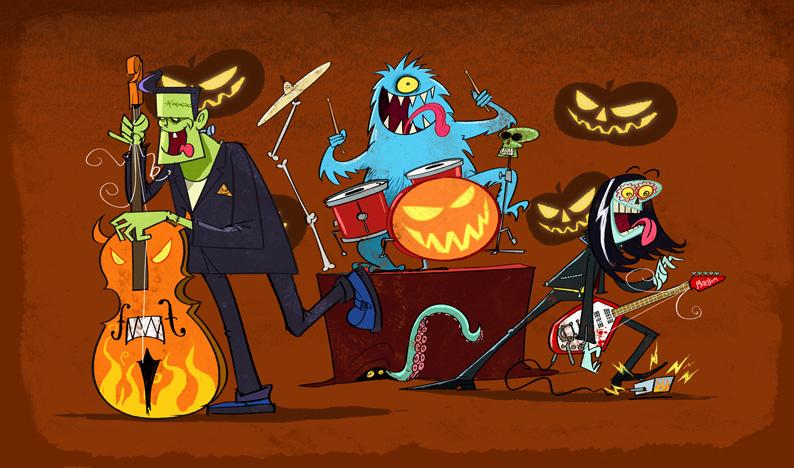 Clipart halloween band. Top songs littleton school