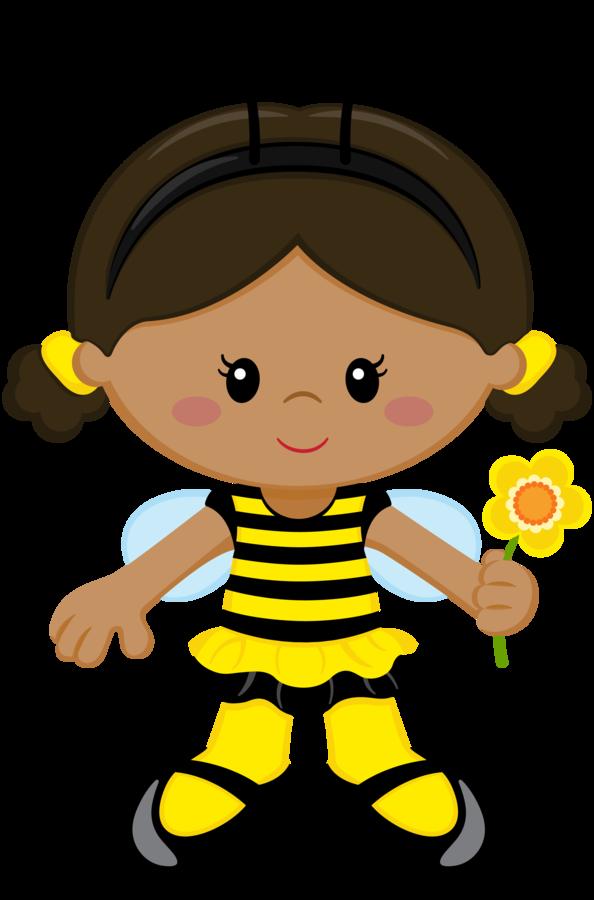 Girly clipart bee. Bumble girl clip art