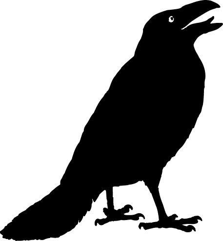 Crow bvas th anniversary. Clipart halloween bird