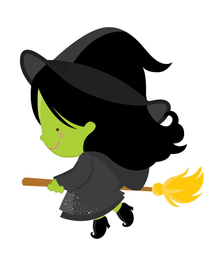 Cute witch clip art. Clipart halloween birthday party