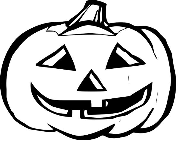 Clipart halloween black and white. Pumpkin clip art