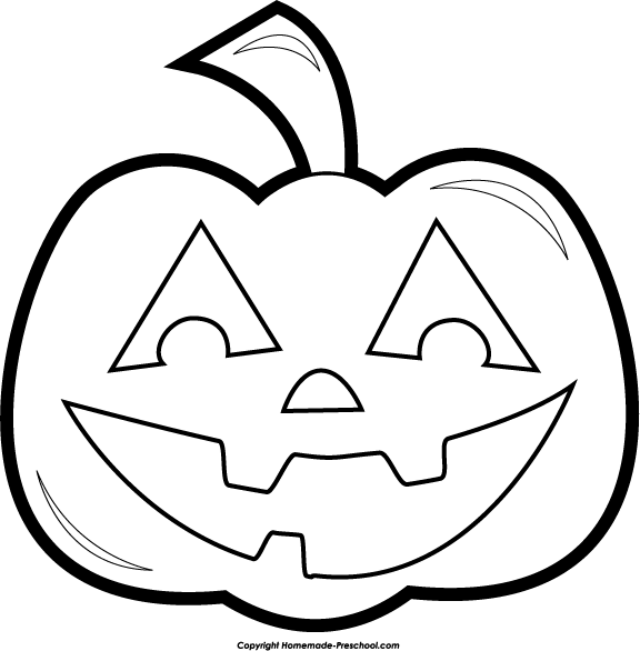 Free . Clipart halloween black and white