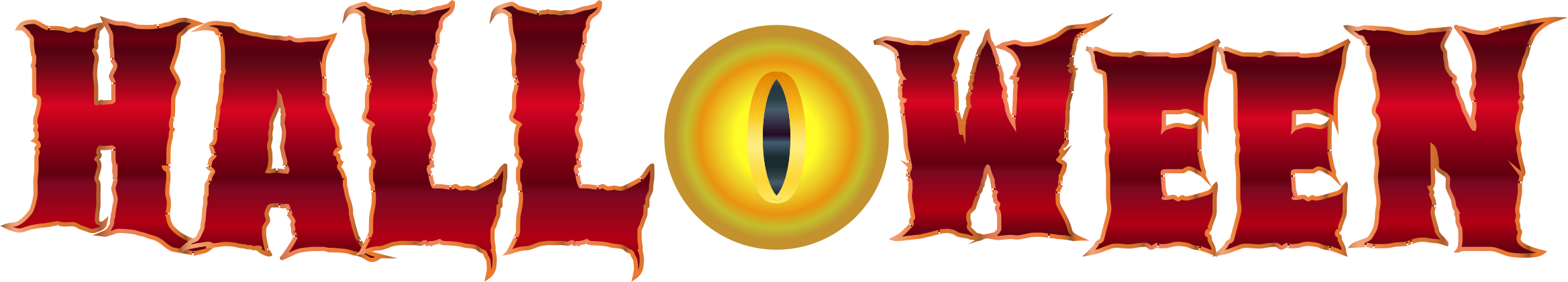 Clipart halloween blood. Eye typography no background