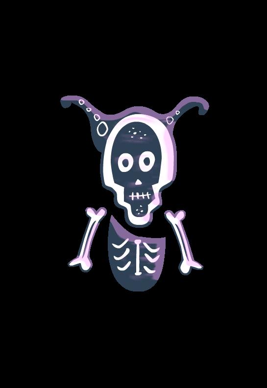 Skeleton for teachers. Clipart halloween bone