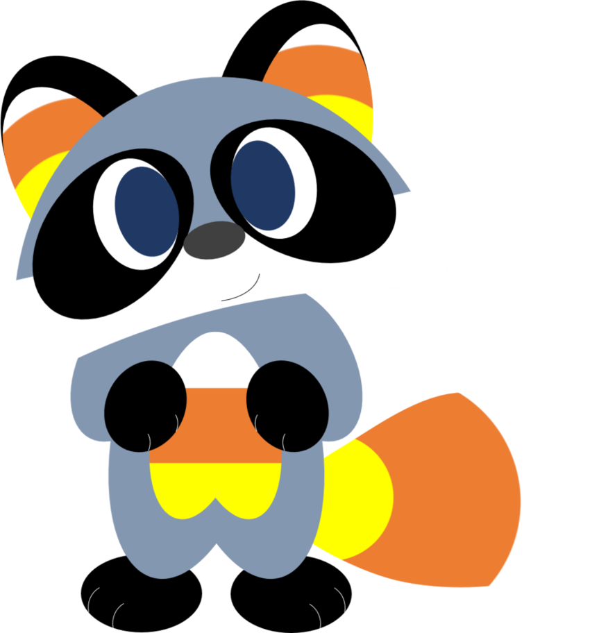 Clipart halloween candy corn. Raccoon by alice of