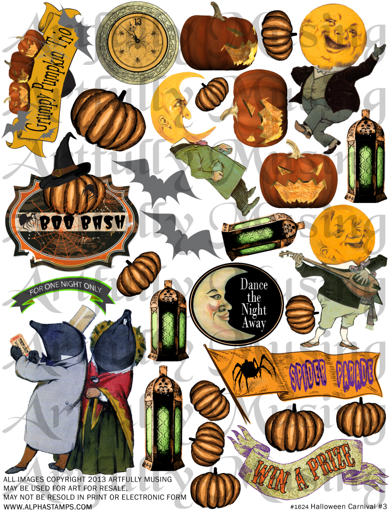 Clipart halloween carnival. Artfully musing event collage