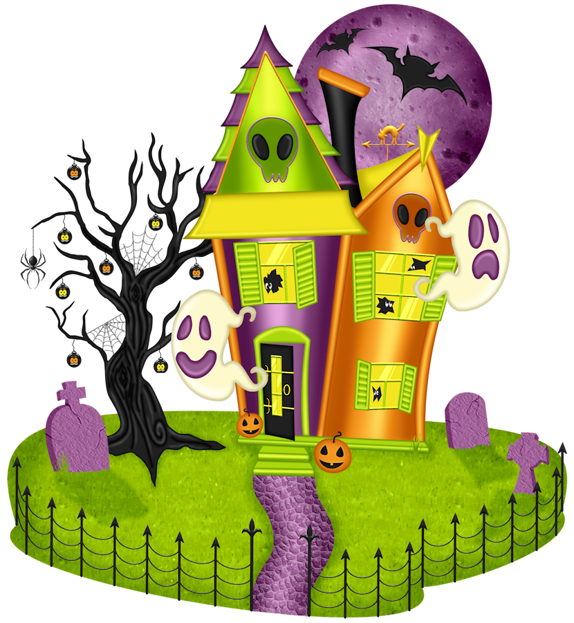 collection of haunted. Home clipart halloween