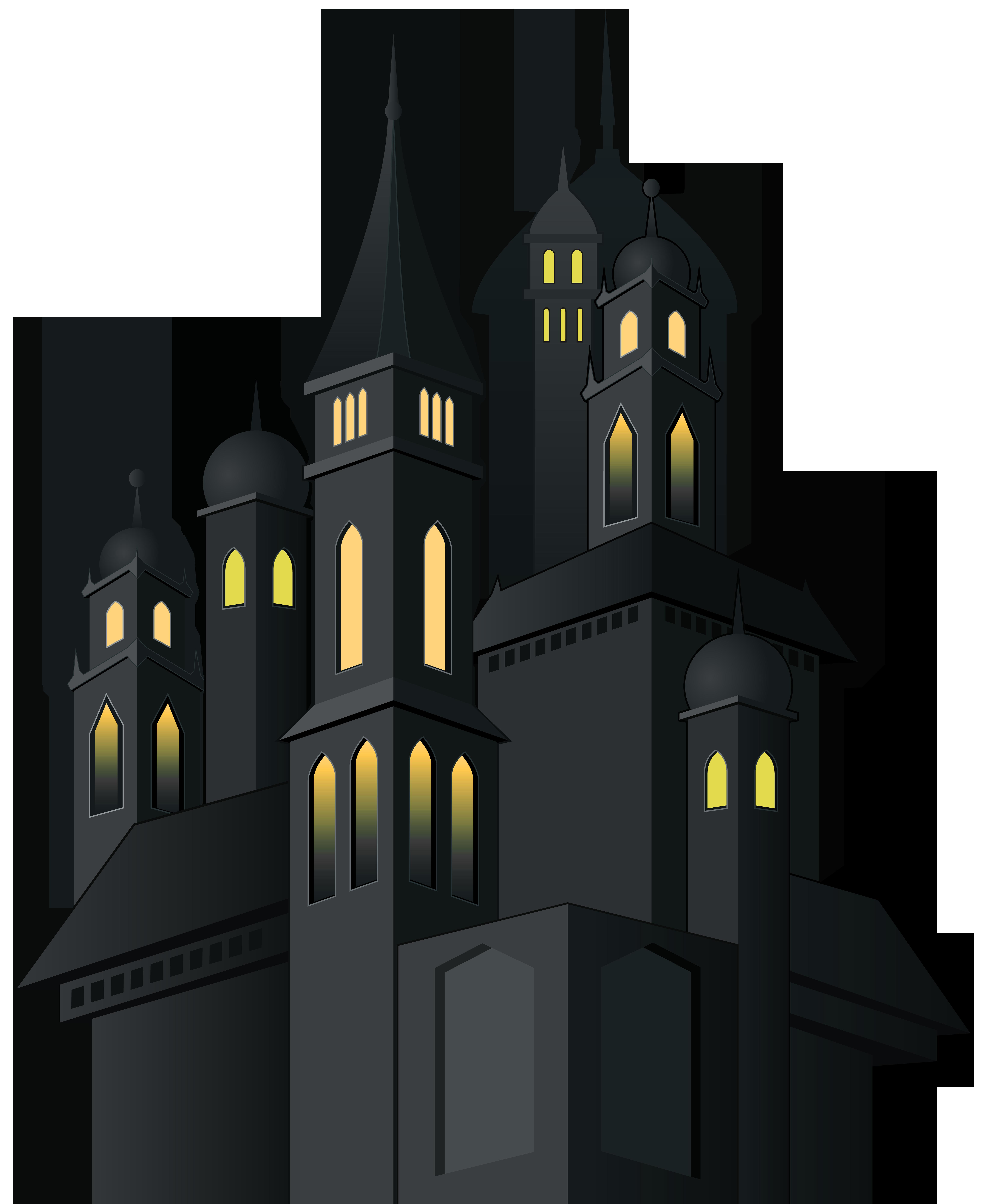 Clipart halloween castle. Haunted png clip art