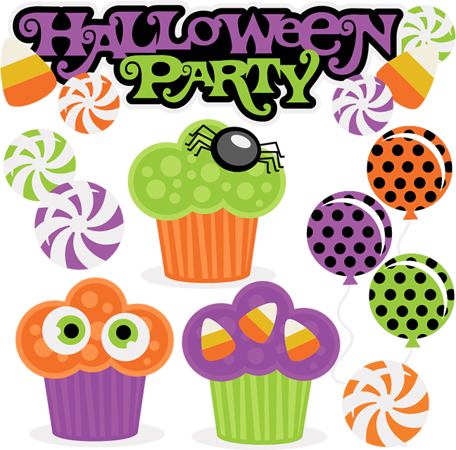 Clipart halloween celebration.  collection of free