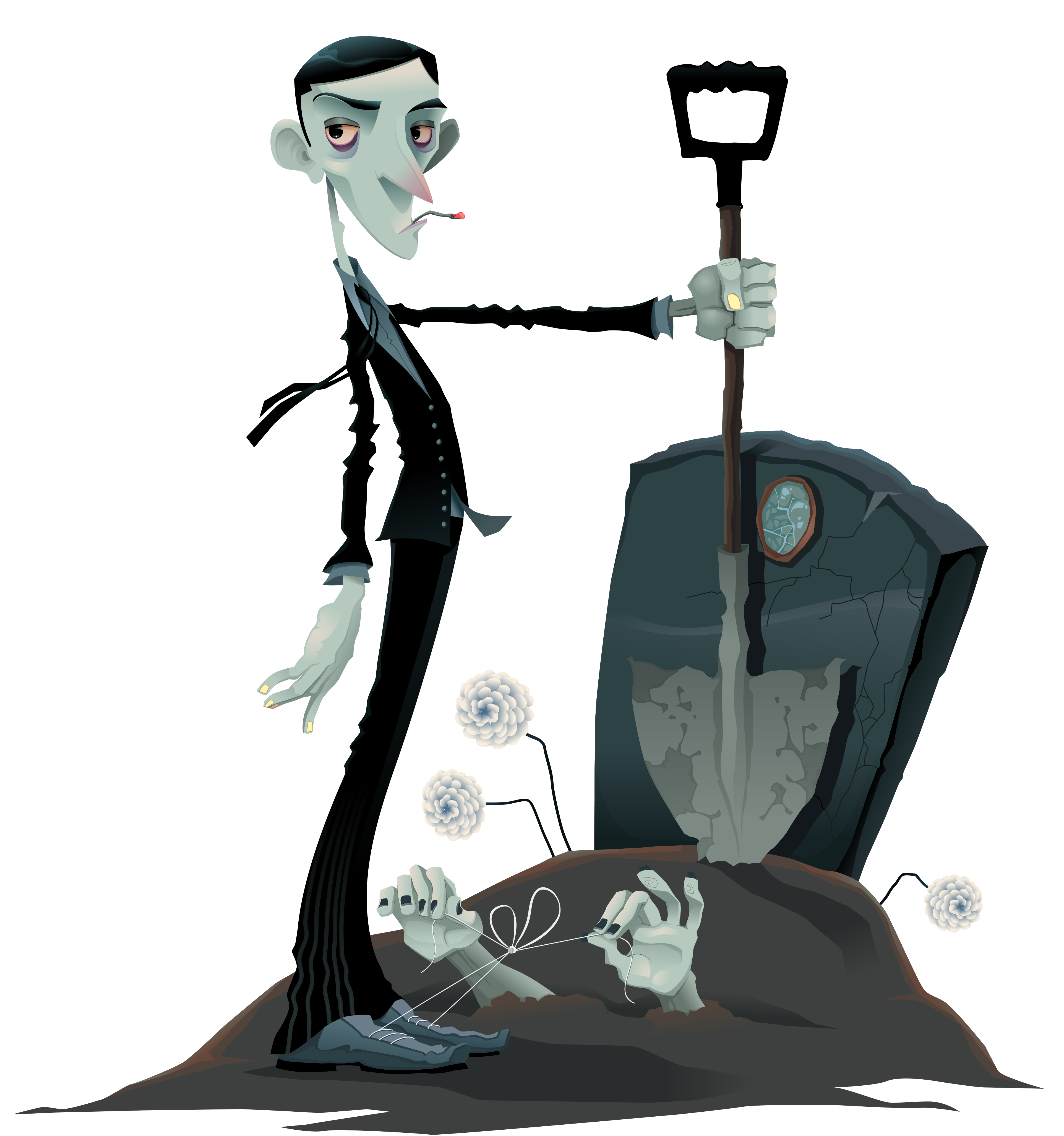 Halloween and tombstone png. Zombie clipart border