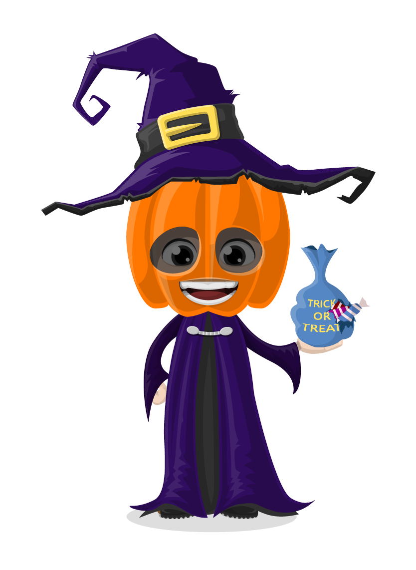 collection of cute. Halloween clipart character