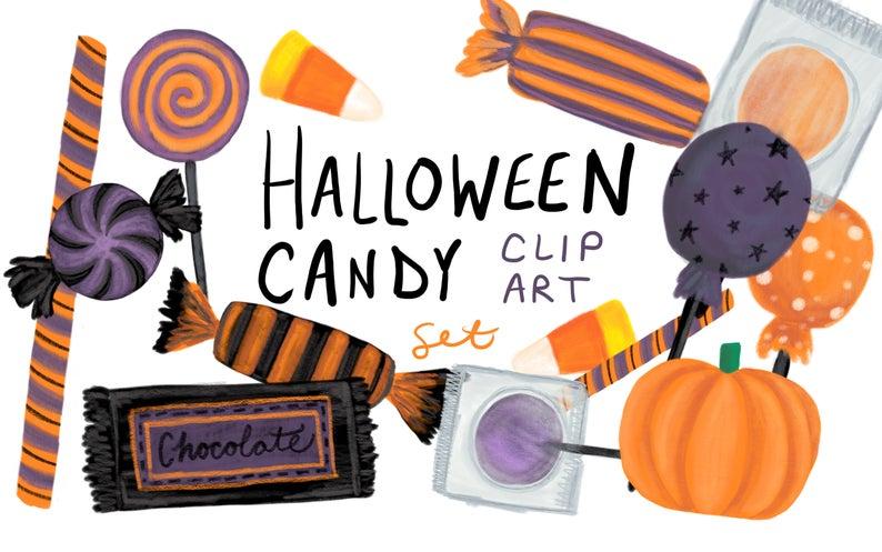 Clipart halloween chocolate. Candy clip art hand