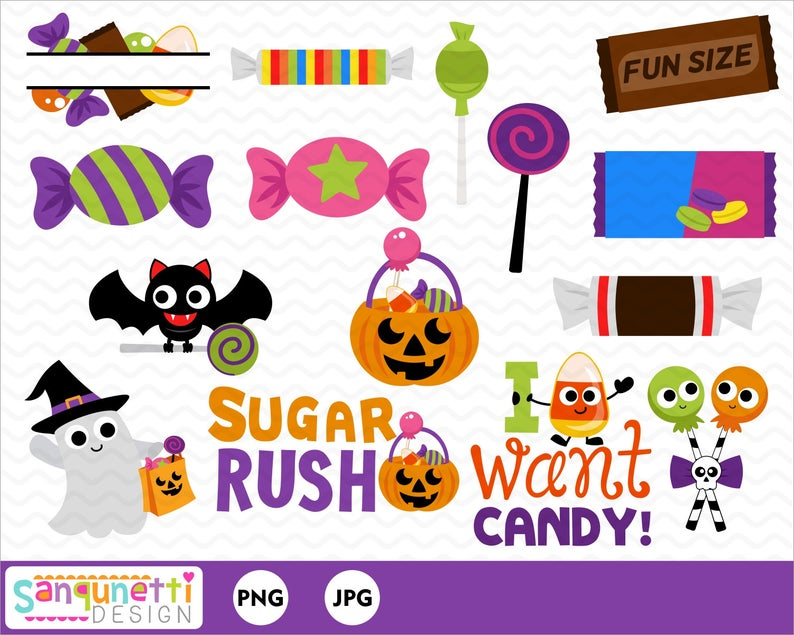 Clipart halloween chocolate. Candy sweets and digital