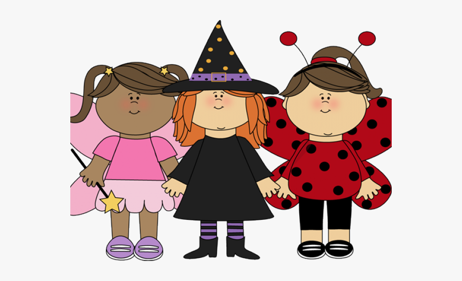 Girl costumes cliparts children. Clipart halloween contest