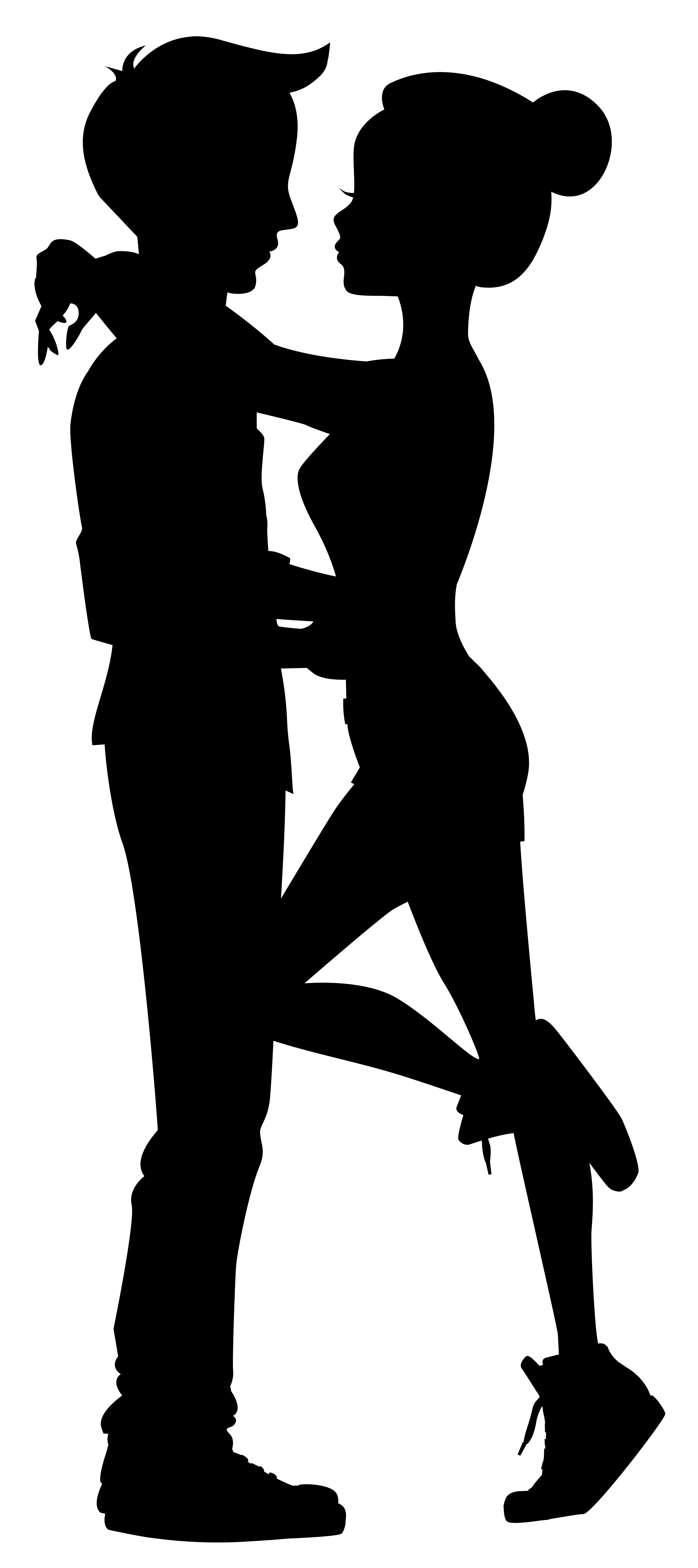 Cute silhouettes clip art. Couple clipart file