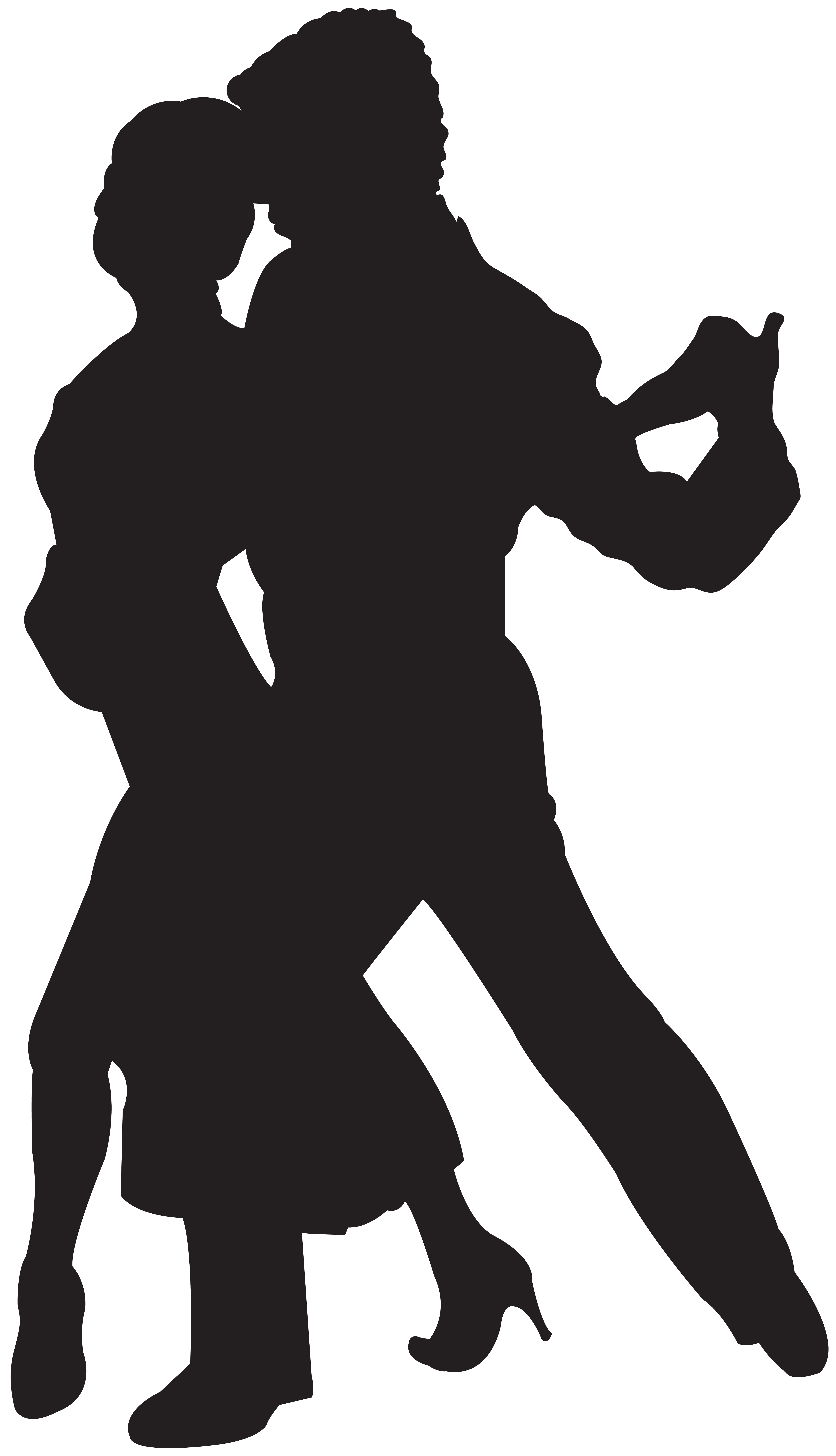 Dancing silhouette png clip. Clipart halloween couple