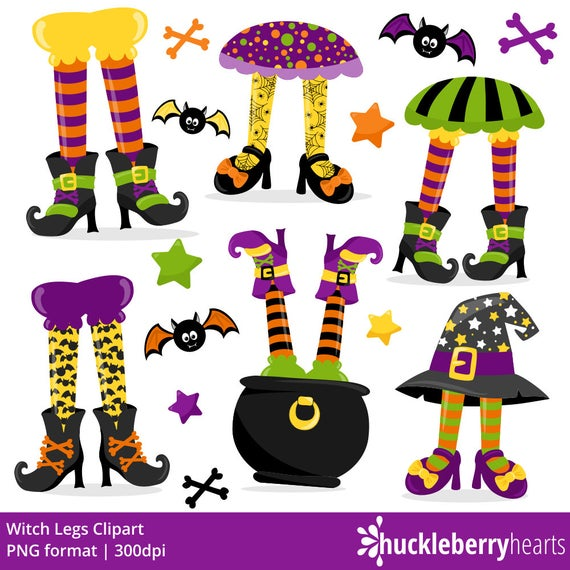 Clipart halloween craft. Witch legs printable commercial