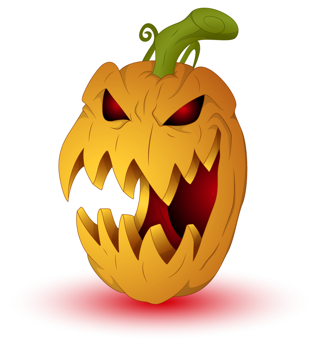collection of scary. Clipart pumpkin monster