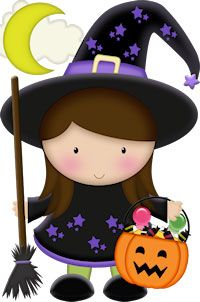Witches more by wraptheoccasion. Clipart halloween cute
