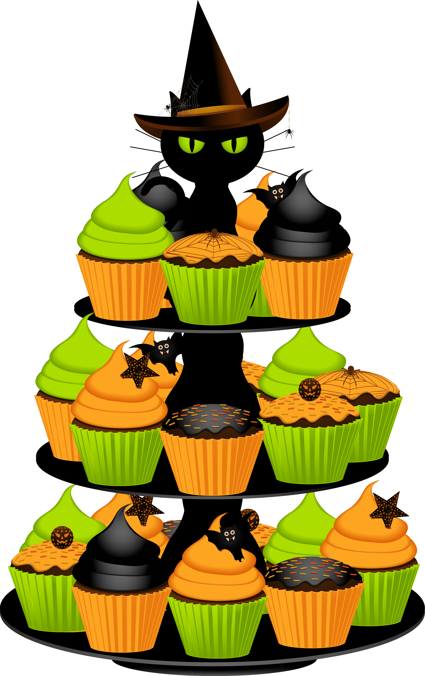 July clipart gold cupcake.  halloween huge freebie