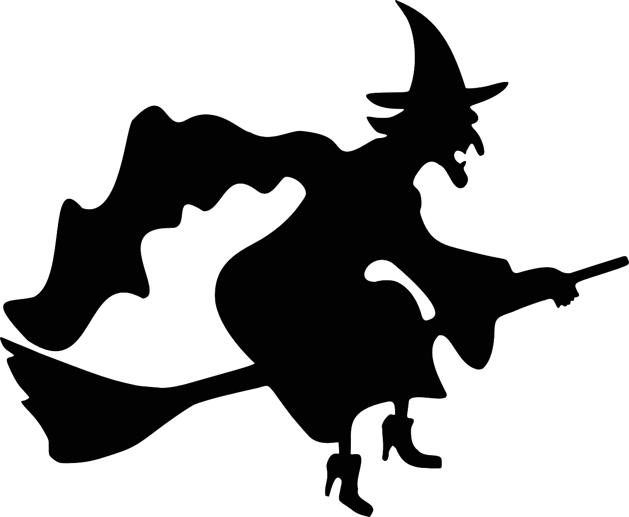 Clown clipart scary witch. Silhouette at getdrawings com