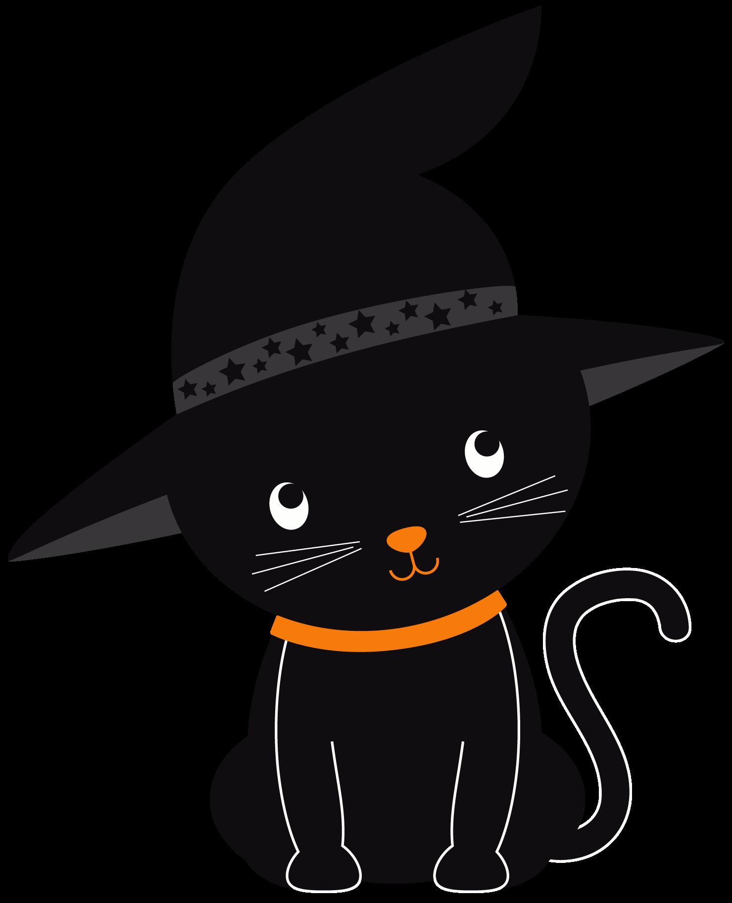 Clipart halloween decoration. Halloweenkittenclipartset id png minus
